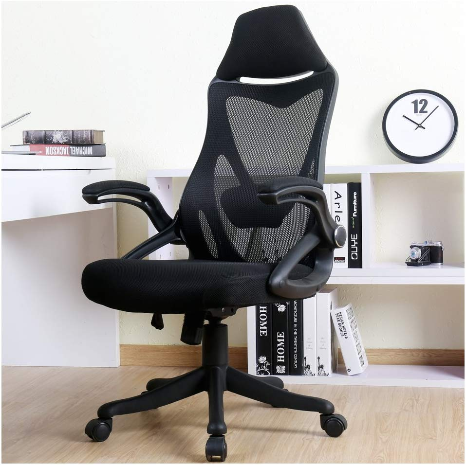 Here's a photo of the BERLMAN Ergonomic High Back Mesh Office Chair with Adjustable Armrest Lumbar Support