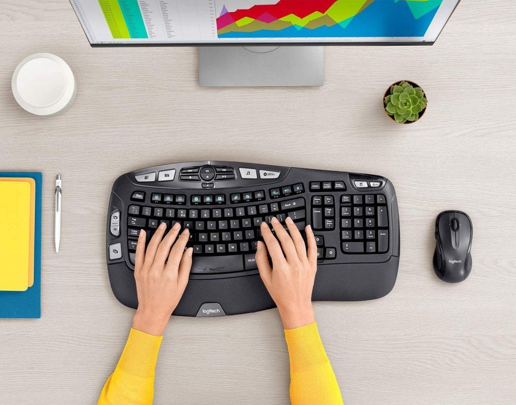 Logitech MK550 Ergonomic Wireless Wave Keyboard and Mouse Combo