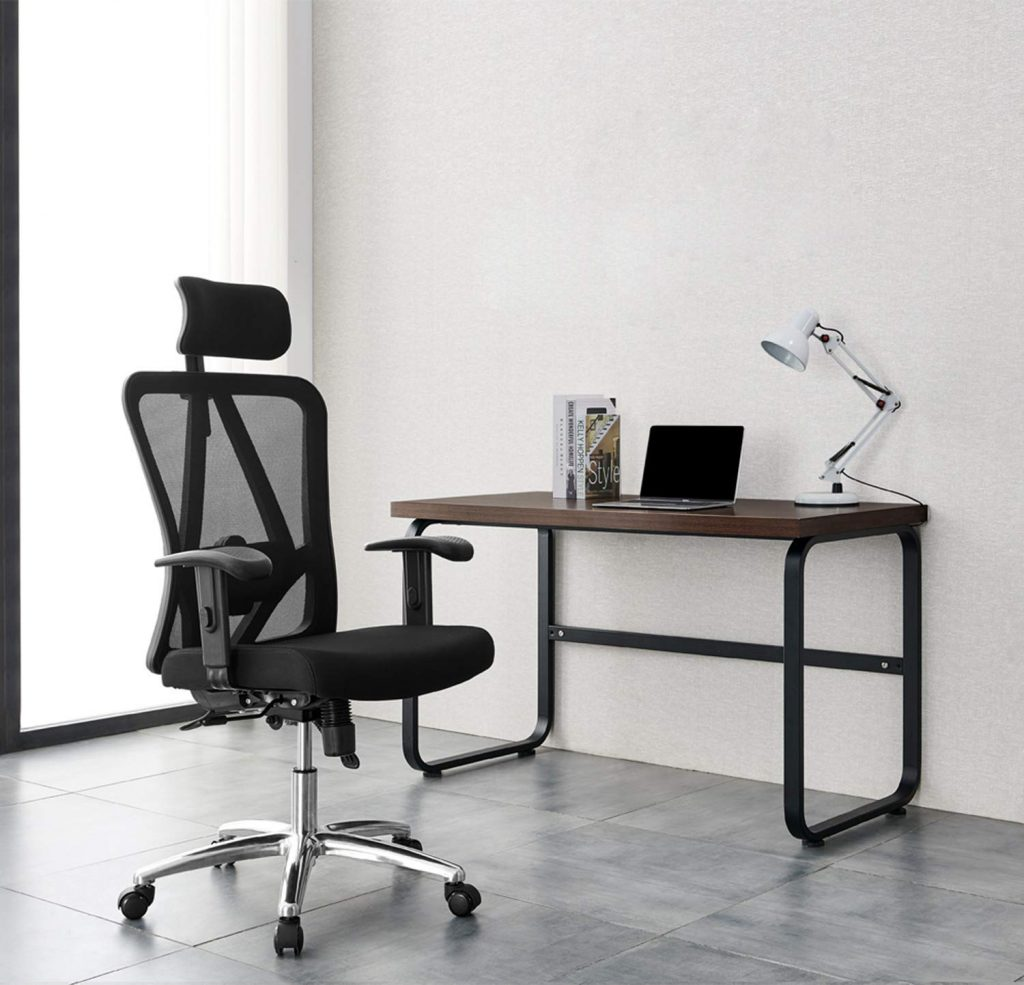 Here's a photo of the Ticova Ergonomic Office Chair with Adjustable Headrest, Armrest and Lumbar Support