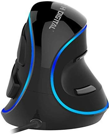 J-Tech Digital Wired Ergonomic Vertical USB Mouse with Adjustable Sensitivity